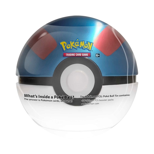 Tin PokeBall Great ball - Pokemon kort